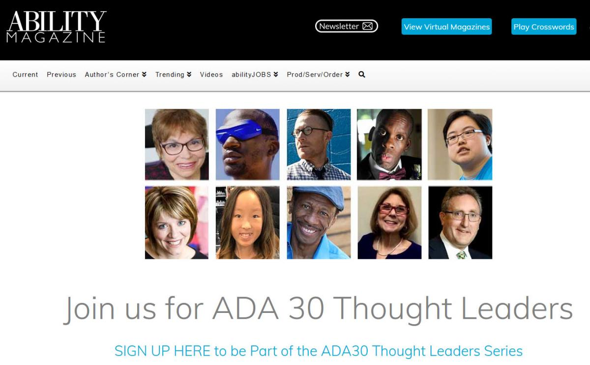 Ability Magazine - ADA30 Thought Leaders