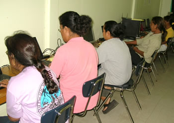 Image of students study at computer labs