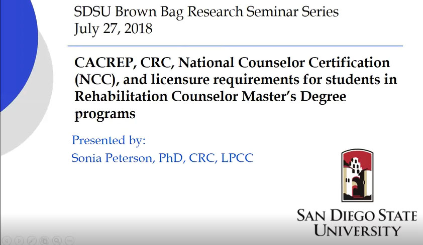 Training Webinars for Rehabilitation Counseling Students and Alumni ...