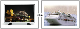 could purchase a plasma screen TV or go on a cruise!