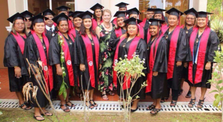 Group picture of Palau BA program after Graduation